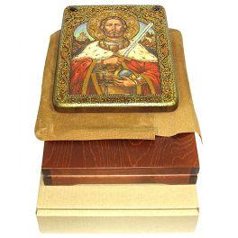Подарочная икона «Святой благоверный князь Александр Невский» с самоцветами