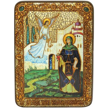 Икона «Святая преподобная Ирина Каппадокийская» на доске