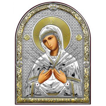 Икона «Богородица Семистрельная. Умягчение злых сердец»