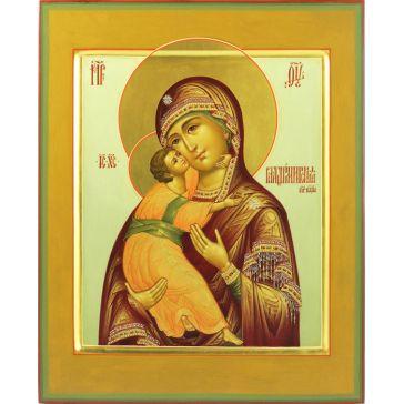 Живописная икона Божией Матери Владимирской