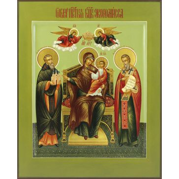 Живописная икона Божией Матери «Экономисса (Домостроительница)»