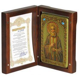 Настольная икона «Преподобный Серафим Саровский чудотворец»