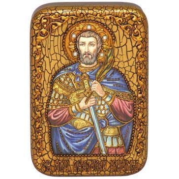 Икона на морёном дубе «Святой Мученик Анатолий Никомидийский»