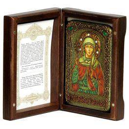 Икона «Святая мученица Виктория Кордувийская» на доске из морёного дуба