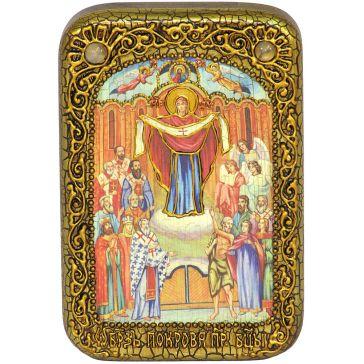 Настольная икона «Покров Пресвятой Богородицы»