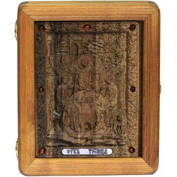 Резная подарочная икона «Троица»