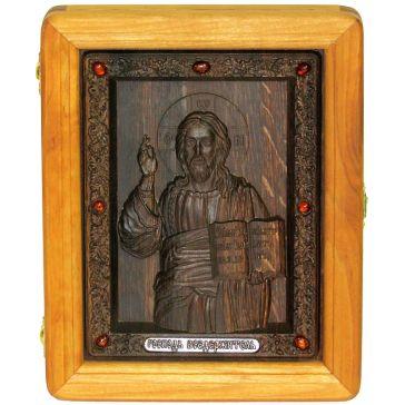 Резная икона «Господь Вседержитель»