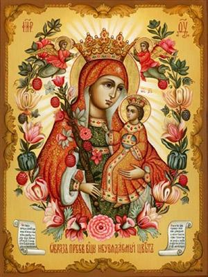 Фото иконы Богородицы Неувядаемый цвет