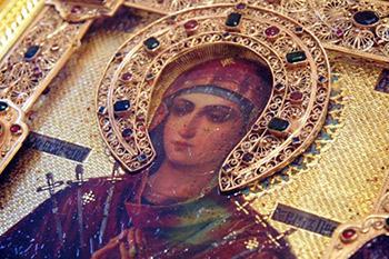 Фото иконы Божьей Матери Семистрельная