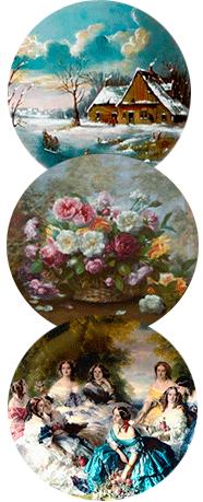 Декоративные фарфоровые тарелки
