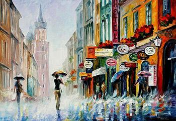 Картина города маслом