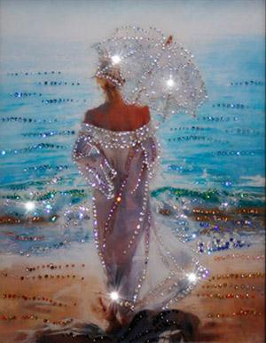 Картины Сваровски с изображением моря