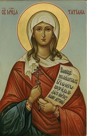 Икона святой Татьяны Римской