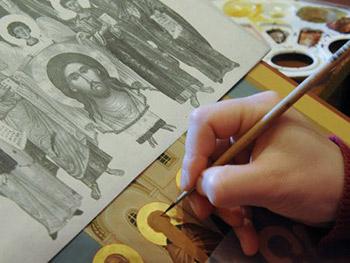 Живописные иконы ручной работы