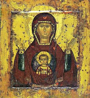 """Фото иконы Божьей Матери """"Знамение"""""""